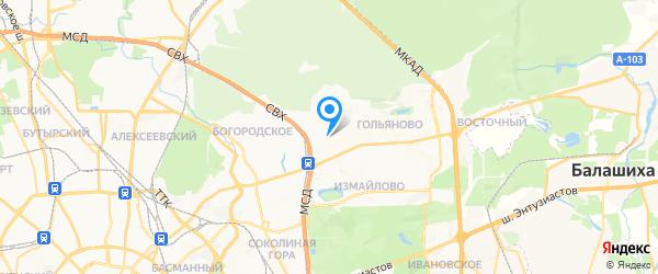 Эксэпт на карте Москвы