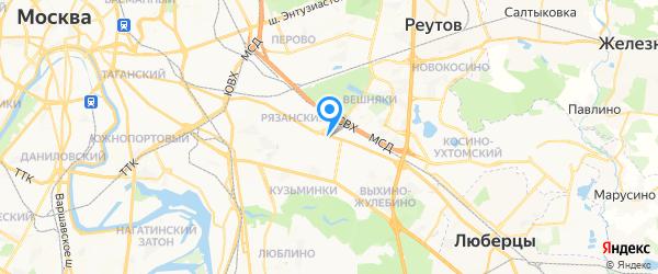 ТехПрофикс на карте Москвы