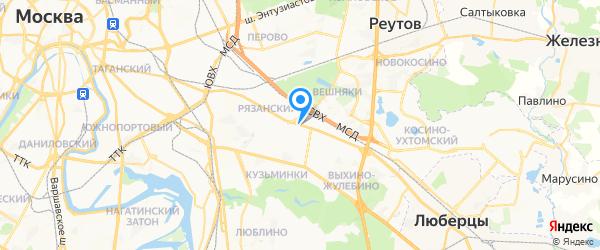 Перфект на карте Москвы