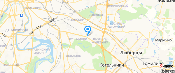 Биг-моторс на карте Москвы