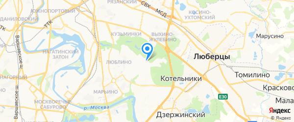Юго-Восток на карте Москвы