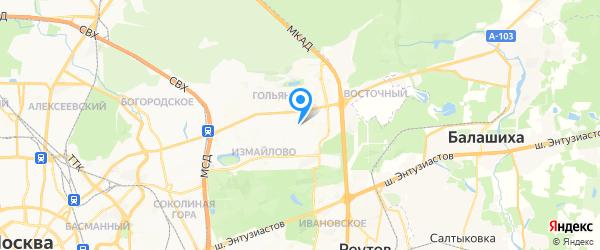 БытСервис ВАО на карте Москвы