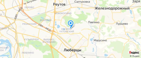 Время на карте Москвы