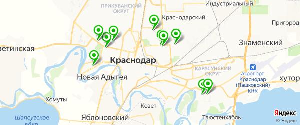 анализы на гепатит на карте Краснодара