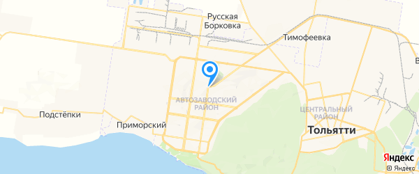 Альтрон на карте Тольятти