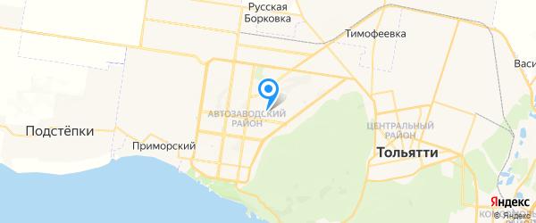 Алион на карте Тольятти