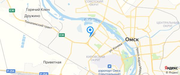 Техноград на карте Омска