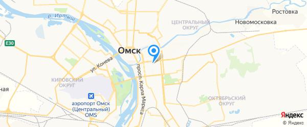 Национальная Сервисная Компания на карте Омска