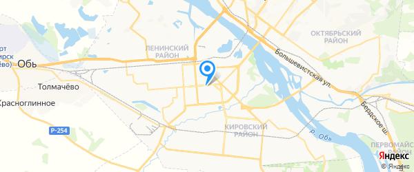Ремонт домашней техники на карте Новосибирска