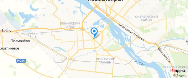 Мобайл Сервис на карте Новосибирска