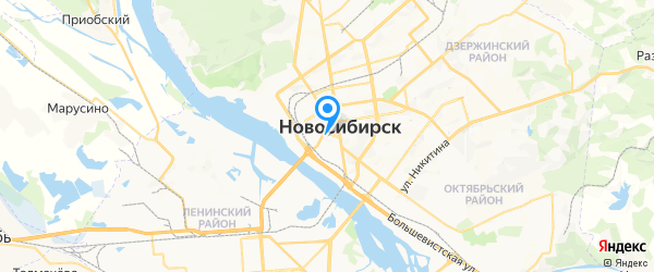 RSS на карте Новосибирска
