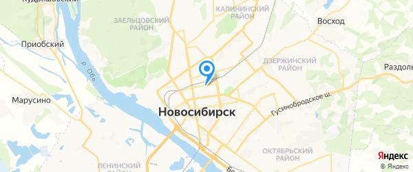Онлайн-Сервис на карте Новосибирска