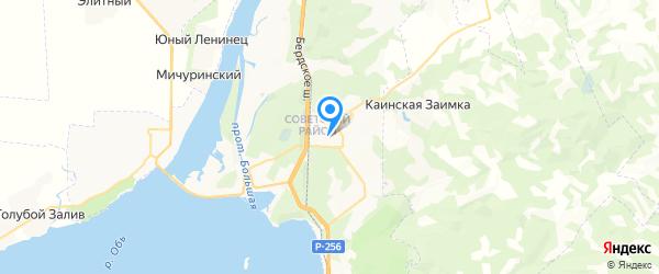 Аксель-сервис на карте Новосибирска