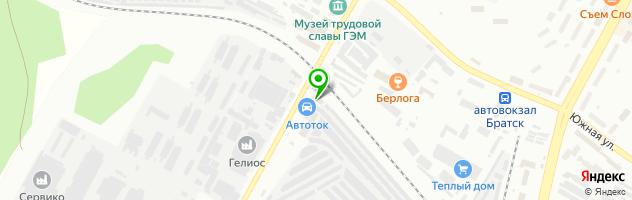 Станция дизельного обслуживания — схема проезда на карте