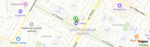 Гостинично-ресторанный комплекс Тайга — схема проезда на карте