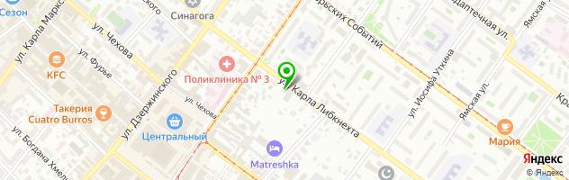 Ресторан Дельта — схема проезда на карте
