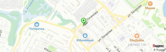 Прачечная Анжелика — схема проезда на карте