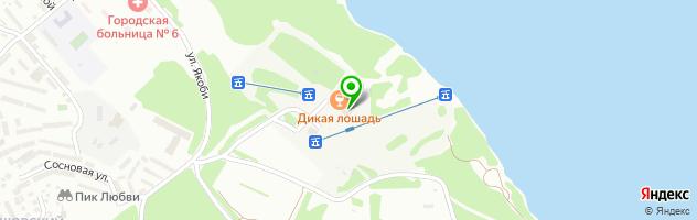 Клуб-ресторан Дикая лошадь — схема проезда на карте