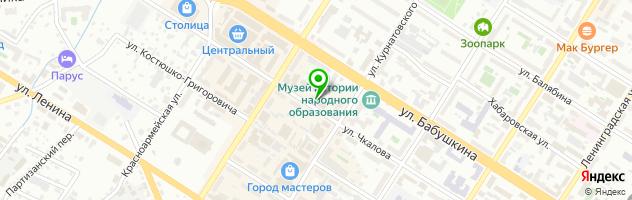 Тату-салон Точка — схема проезда на карте