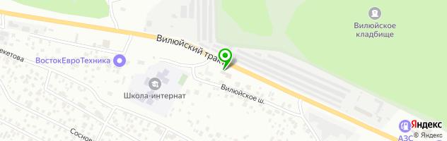 Автосервис и магазин автозапчастей Бизон — схема проезда на карте