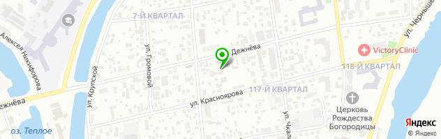 Автоцентр Дежнёв — схема проезда на карте