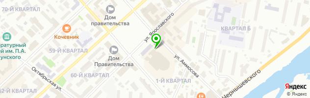 Ресторан Тыгын Дархан — схема проезда на карте