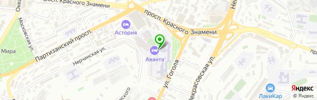 Гостинично-ресторанный комплекс Аванта — схема проезда на карте