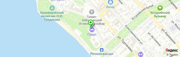 Гостиничный комплекс Парус — схема проезда на карте