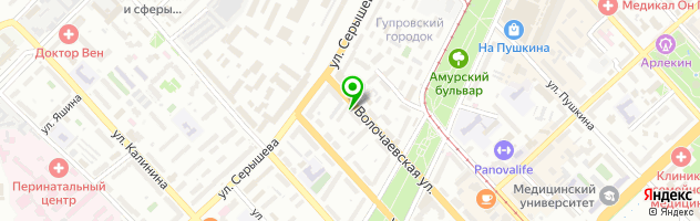 Комсомольский-на-Амуре государственный технический университет — схема проезда на карте