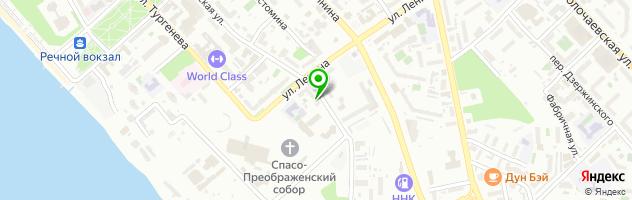Кафе Нора — схема проезда на карте