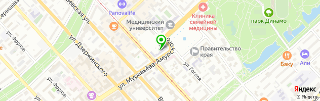 Общежитие Дальневосточный институт — схема проезда на карте