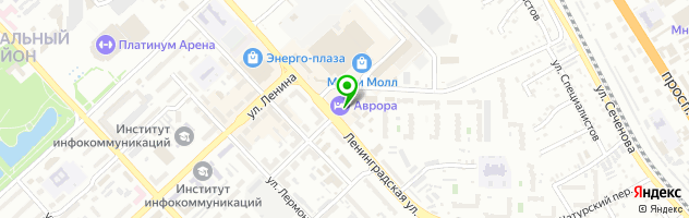 Гостиница Аврора — схема проезда на карте