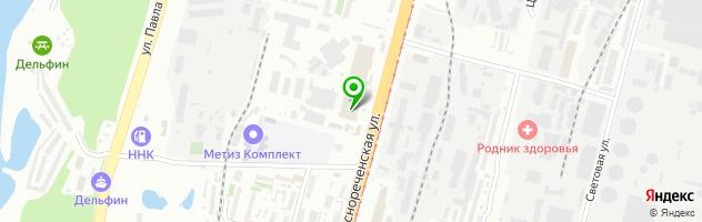 Автотехцентр Автостолица — схема проезда на карте