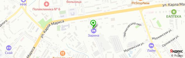Кафе Зарина — схема проезда на карте