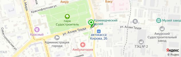 Гостиница Визит — схема проезда на карте