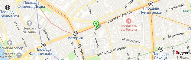 Ресторан КИНЗА — схема проезда на карте