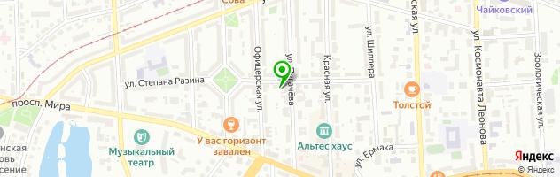 Гостиничный комплекс Чайка — схема проезда на карте