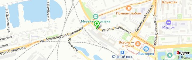 Автоцентр Барракуда — схема проезда на карте