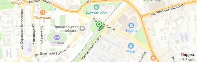 Салон красоты Посольство красоты — схема проезда на карте