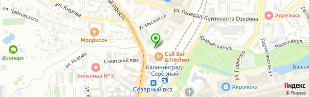 Автоцентр Бина — схема проезда на карте