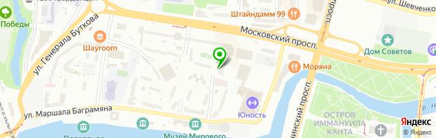 Калининградский Mаммологический центр — схема проезда на карте