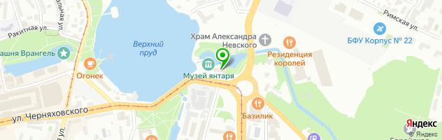 Ресторан Солнечный камень — схема проезда на карте