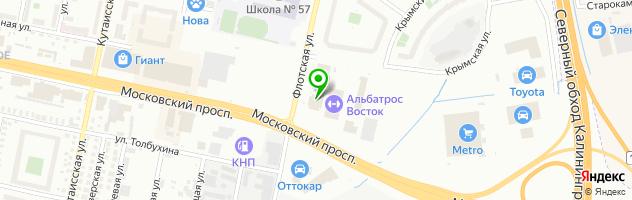 LEXUS Калининград Официальный дилерский центр — схема проезда на карте
