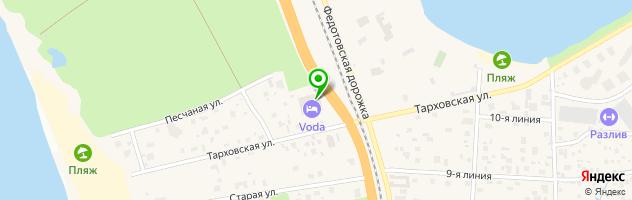Гостинично-оздоровительный комплекс VODA — схема проезда на карте