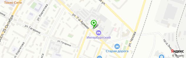 SPA-центр Ингербургский — схема проезда на карте