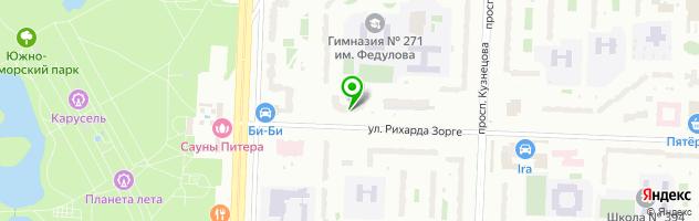 Ателье-Бутик на Рихарда Зорге 4 — схема проезда на карте