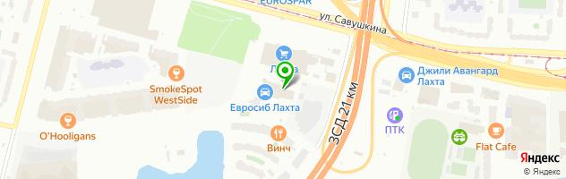 Автоцентр Евросиб Лахта — схема проезда на карте