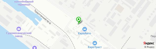 Шиномонтаж Pit-Stop — схема проезда на карте