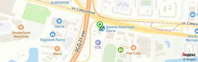 Автоцентр АВАНГАРД — схема проезда на карте