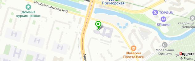 Стоматологическая клиника На Приморской — схема проезда на карте